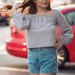 Brandy Melville Off the Shoulder Theia Top